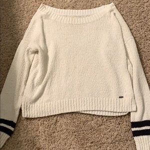 White Hollister Loose-Knit Sweater